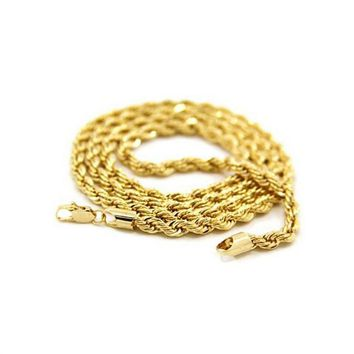 Fashion Men's Boys Swivel Style 24K Gold Plated Pendant Necklace