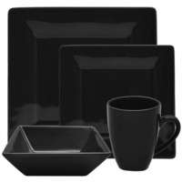 Ten Strawberry Street Nova 16 Piece Square Dinnerware Set