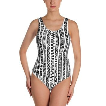 Bohemian Stripe - One-Piece Swimsuit