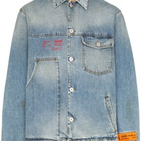 Logo Patch Denim Jacket by Heron Preston
