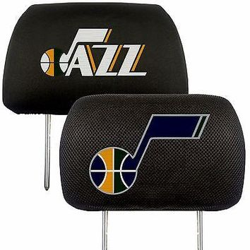 Utah Jazz 2-Pack Auto Car Truck Embroidered Headrest Covers
