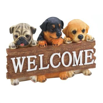 Puppy Welcome Sign