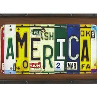 America License Plate Embossed Tin on MDF Sign | Shop Hobby Lobby