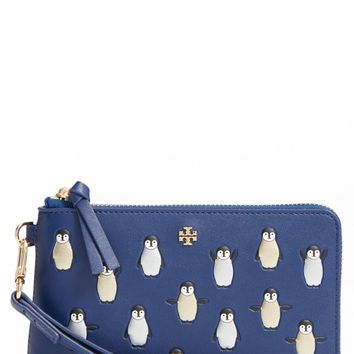 Tory Burch Embossed Leather Wristlet | Nordstrom