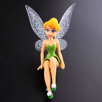 Hot 6pcs Minifigures Tinker Bell Fairies Princess Figures Cake Topper Kids Party ToyTinker Bell Fairies Toy*kids toys