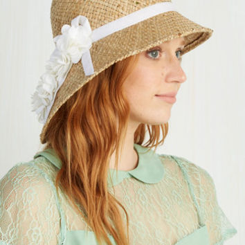 Vintage Inspired Pure Edith Hat in White by ModCloth