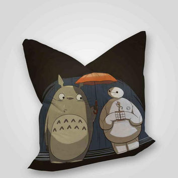 baymax and totoro, pillow case, pillow cover, cute and awesome pillow covers