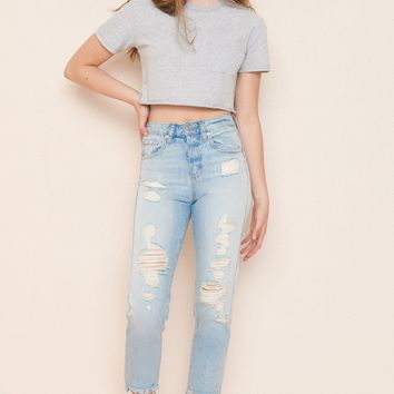 Cut-Off Mom Jean