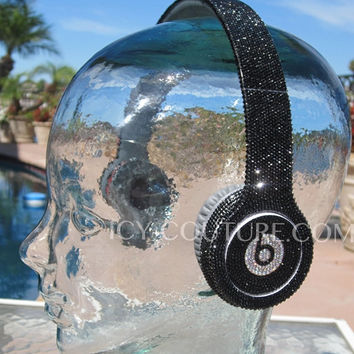 Black Crystal Bling BEATS by Dre with Swarovski Crystals