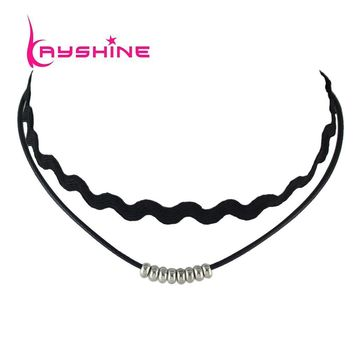 Choker Necklace Outfits Tattoo  Stretch  Grunge Black