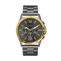 Caravelle New York by Bulova Men's Gunmetal Stainless Steel Chronograph Watch (Grey)