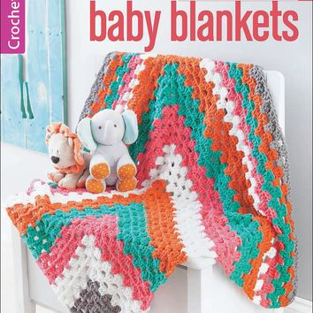 Leisure Arts-Color-Block Baby Blankets