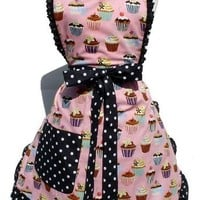 Cupcakes and Polka Dots Apron by Hemet