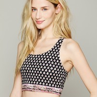 Free People Print Yoga Crop Top