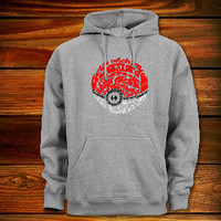Typography Assignment - the pokeball Hoodie,Typography Assignment - the pokeball Sweater Black,White,Grey