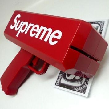 Supreme SS17 Red Box Logo Cash Cannon Money Gun 100 PCS Custom dollar bill