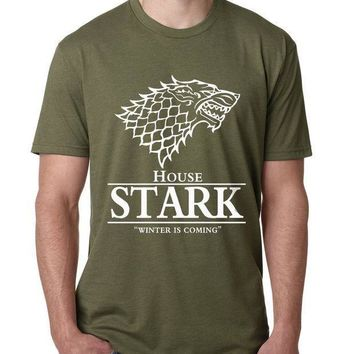 2017 Men Game Of Thrones T Shirt House Stark Winter Is Coming Printed Summer Style Tees Male Harajuku Top Fitness Brand Clothing
