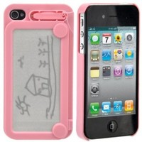 Magic Drawing Board Hard Protective Back Case Cover for iPhone 4 /iPhone 4S (Pink)