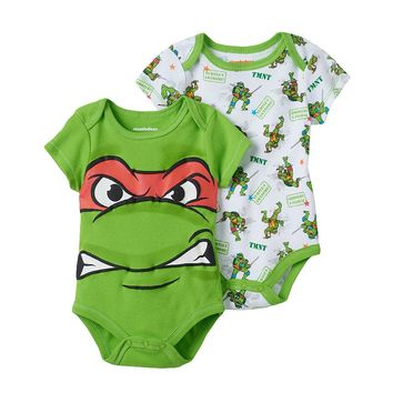 Teenage Mutant Ninja Turtles Raphael 2-pk. ''Turtle-y Awesome'' Bodysuits - Baby Boy, Size: