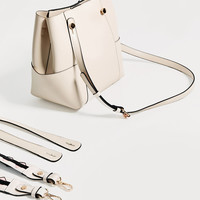 MINI TOTE WITH CONTRASTING HANDLE DETAILS