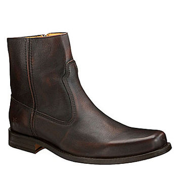 Frye Emmett Inside Zip Boots - Dark Brown