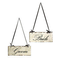 Bride and Groom Decorative Sign