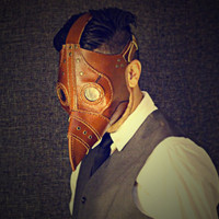 Plague Doctor Steampunk Leather Mask