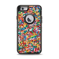 The Colorful Candy Sprinkles Apple iPhone 6 Otterbox Defender Case Skin Set