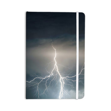 "KESS Original ""Lightning Storm"" Blue White Everything Notebook"