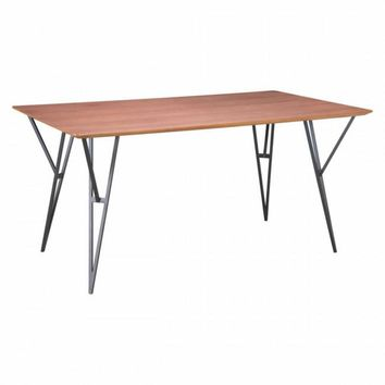 Zuo Modern Audrey 100954 Dining Table Walnut & Black