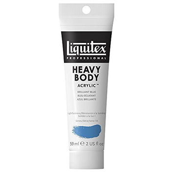 Liquitex Professional Heavy Body Acrylic Paint 2-oz tube, Brilliant Blue