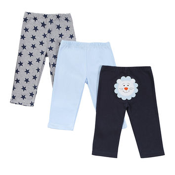 2016 Retail 3pcs/Lot Baby Pants Boy Girl Cartoon Cotton Autumn Pants Boy Fashion Children Clothing Baby Pants for Boy 0-12 M