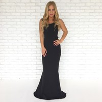 Perfect Duet Bow Back Maxi Dress In Black