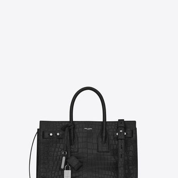 sac de jour small in crocodile embossed leather