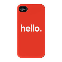 Hello Full Wrap High Quality 3D Printed Case for iPhone 4 / 4s by textGuy
