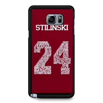 Stiles Quote Jersey Stilinski Samsung Galaxy Note 5 Case
