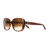 Tiffany & Co. - Tiffany 1837™ square sunglasses in tortoise acetate; sterling silver accents.