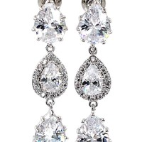 shining pendant crystal earrings