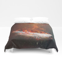 Icarus Duvet Cover by HappyMelvin