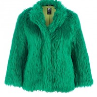 Iron Fist Ladies Rolling Stone Faux Fur Coat Green Buy Online Direct from Iron Fist - Iron Fist