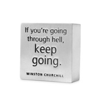 """Keep Going"" Paperweight"