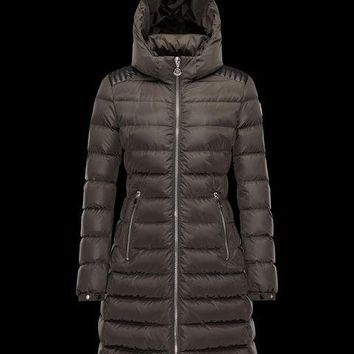 Moncler Women Moka Knee-Length Puffer Jacket