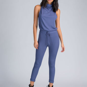 Cowl At The Moon Rib Knit Jumpsuit