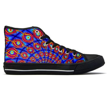 The Door by Alex Aliume - High Top Canvas Shoes