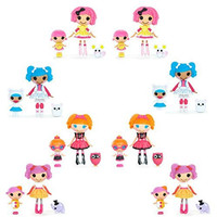 8 Pack Mini Lalaloopsy Little Dolls & Lalalopsy Sisters - Mini Lalaloopsy Littles each come with their older sibling and an adordable pet!