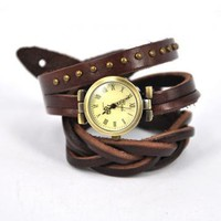 Dark Brown Wraparound Watch  by Hallomall on Zibbet