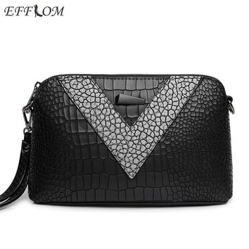 Luxury Handbags Women Designer Clutches Alligator Vintage Leather Quality Famous Brands 2017 Fashion Ladies Crossbody Bags Small
