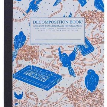 Bird Song Decomposition Book: College-ruled Composition Notebook With 100% Post-consumer-waste Recycled Pages