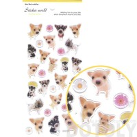 Adorable Baby Puppy Dog Animal Shaped Photo Print Stickers for Scrapbooking and Decorating