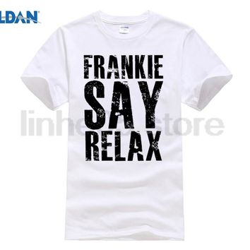 GILDAN New Metal Short Sleeve Casual Shirt Frankie Say Relax T-shirt Funny Retro Soft Goes To Hollywood 80s Music Tee